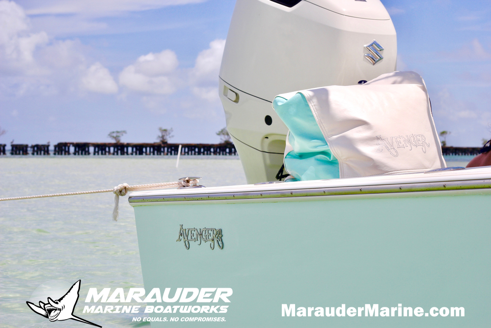 24' Shallow Water Bay Boat in 24 Foot Avenger Custom Fishing Boats photo gallery from Marauder Marine Boat Works
