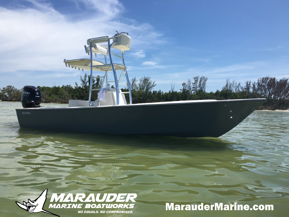 Photo of a 25' Custom Tarpon Fishing Boat in 25 Foot Avenger Custom Fishing Boats photo gallery from Marauder Marine Boat Works