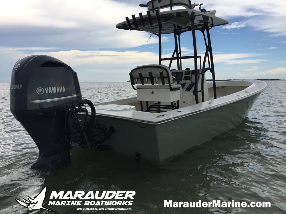 Bay boat Photo Fishing Skinny Water in 25 Foot Avenger Custom Fishing Boats photo gallery from Marauder Marine Boat Works