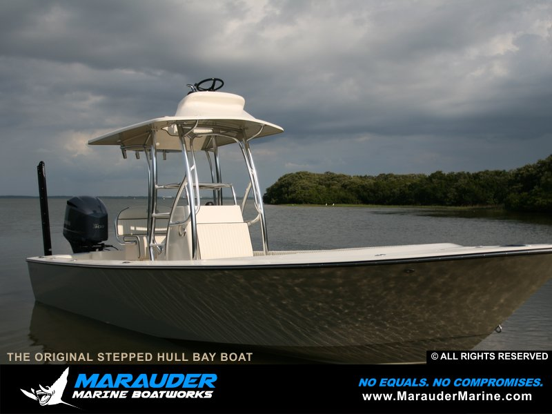 Starboard side photo of an avenger custom fishing boat - What side is port and starboard on a boat ...