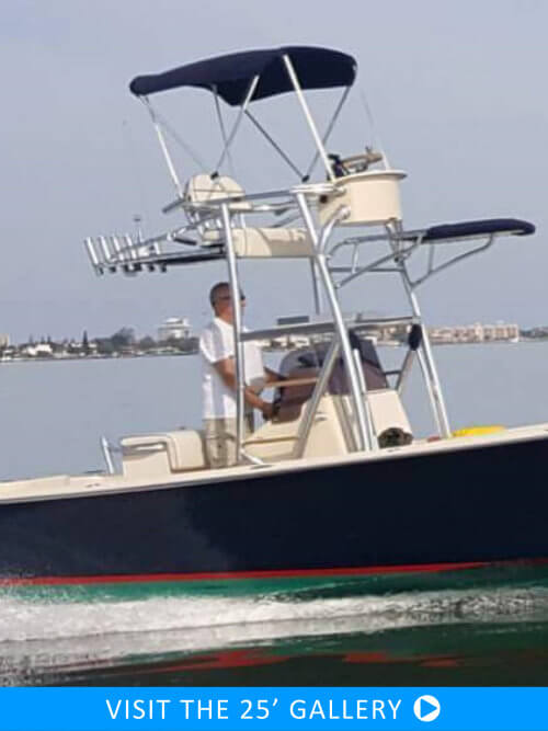 Marauder Marine Avenger 25 - Twenty-Five Foot Fishing Bay Boat Custom Made in Florida